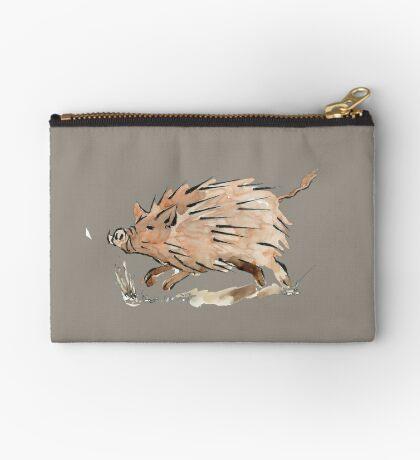 Warthog sketch Zipper Pouch