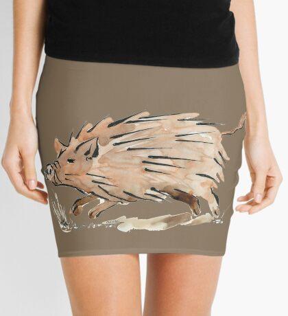 Warthog sketch Mini Skirt