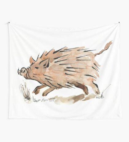Warthog sketch Wall Tapestry