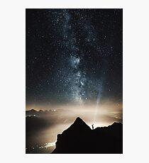 Night Sky Stars in the Mountains Photographic Print