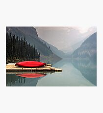 Summer Lake Mountain Vacation Photographic Print