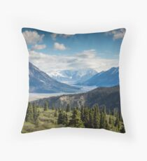 Forest Mountains River National Park Nature Photography Wall Art Throw Pillow