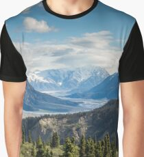 Forest Mountains River National Park Nature Photography Wall Art Graphic T-Shirt
