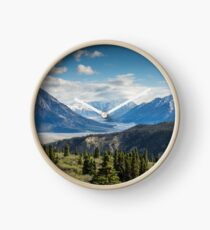Forest Mountains River National Park Nature Photography Wall Art Clock