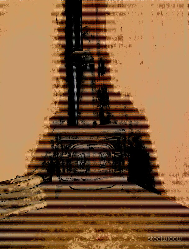 Comic Abstract Wood Burning Stove By Steelwidow Redbubble