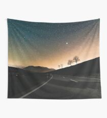 Starry Night Drive Wall Tapestry