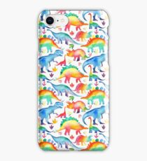 Rainbow Watercolour Dinosaurs iPhone Case/Skin