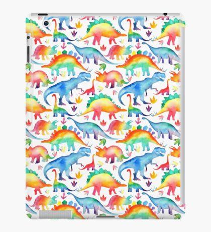 Rainbow Watercolour Dinosaurs iPad Case/Skin