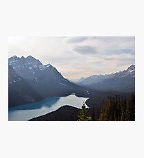 Lámina fotográfica Mountain Lake Forest Dream