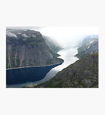 River through Mountains Photographic Print