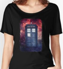 Police Blue Box Tee The Doctor T-Shirt Women's Relaxed Fit T-Shirt