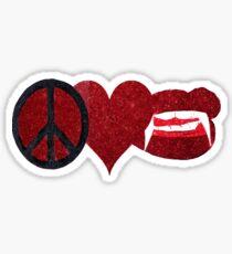 Peace Love & Fangs Sticker