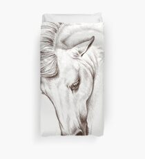 Andalusian Horse Drawing Duvet Cover