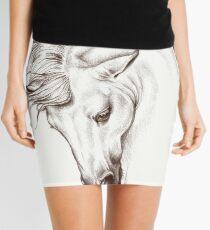 Andalusian Horse Drawing Mini Skirt