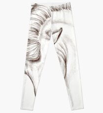 Andalusian Horse Drawing Leggings
