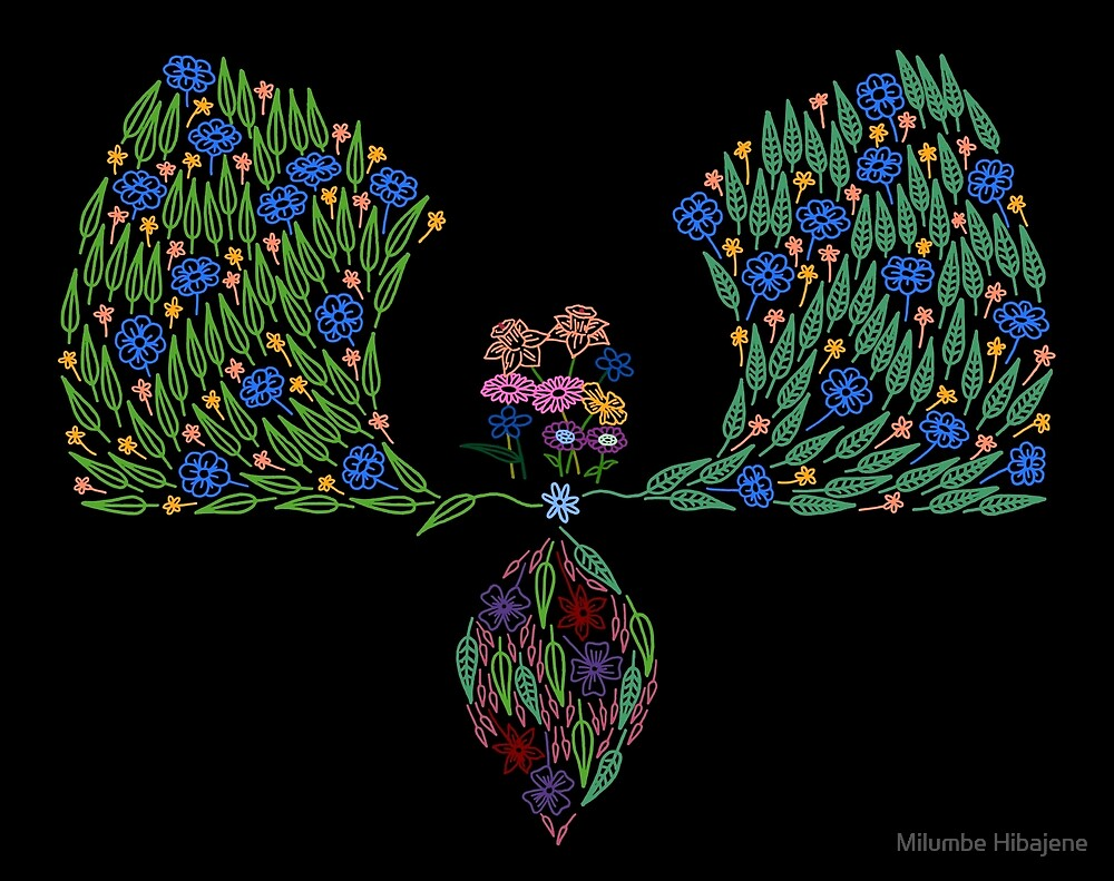 Partial Floral Arch (Colour Variant) by Milumbe Hibajene