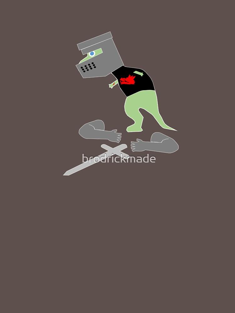 T-Rex Hates Being Black Knight by brodrickmade