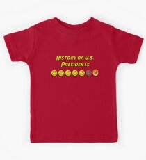 History of US presidents Kids Tee