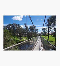 Pinjarra Suspension Bridge Photographic Print