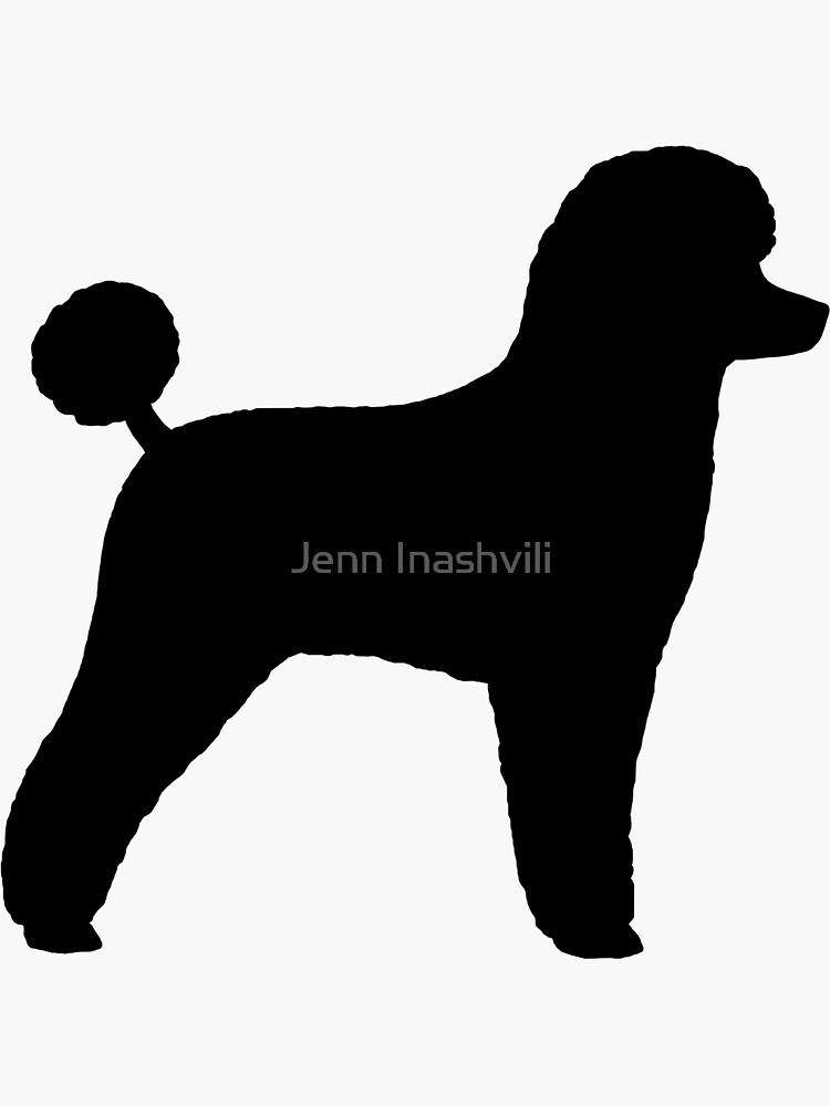 Black Toy Poodle Silhouette(s) by ShortCoffee