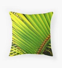 Tropical Palm Leafs Throw Pillow