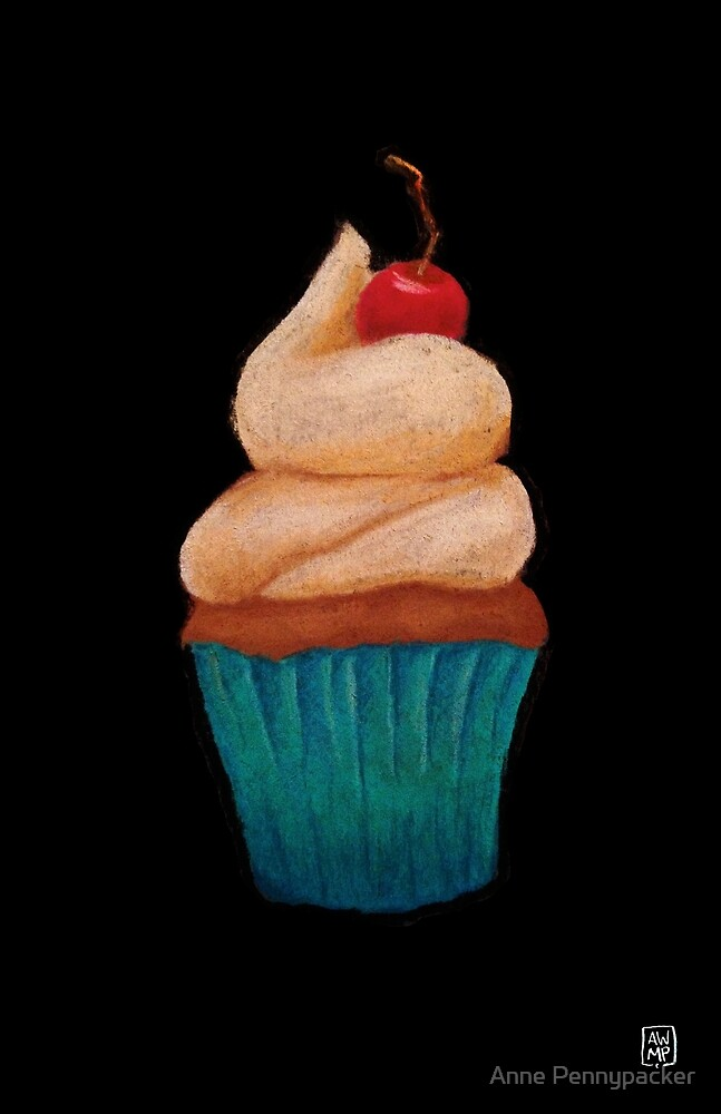 Lovely Pastel Cupcake by Anne Pennypacker