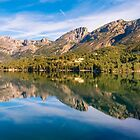 Embalse de Guadalest reflections 2 by Ralph Goldsmith