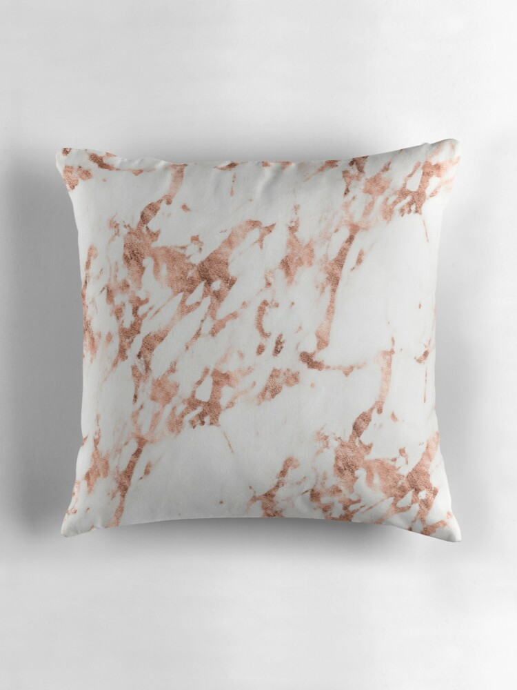 """Rose Gold Marble Perfect Pink Rose Gold Marble"""" Throw Pillows by"""