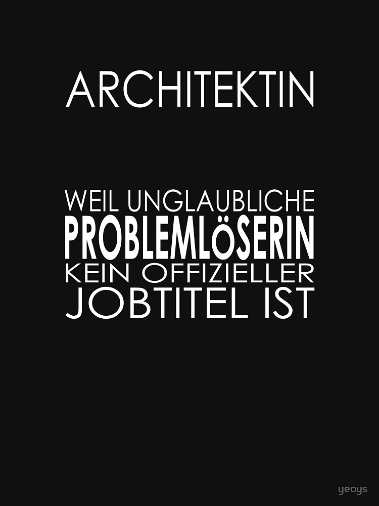 Architect - Incredible problem solver by yeoys