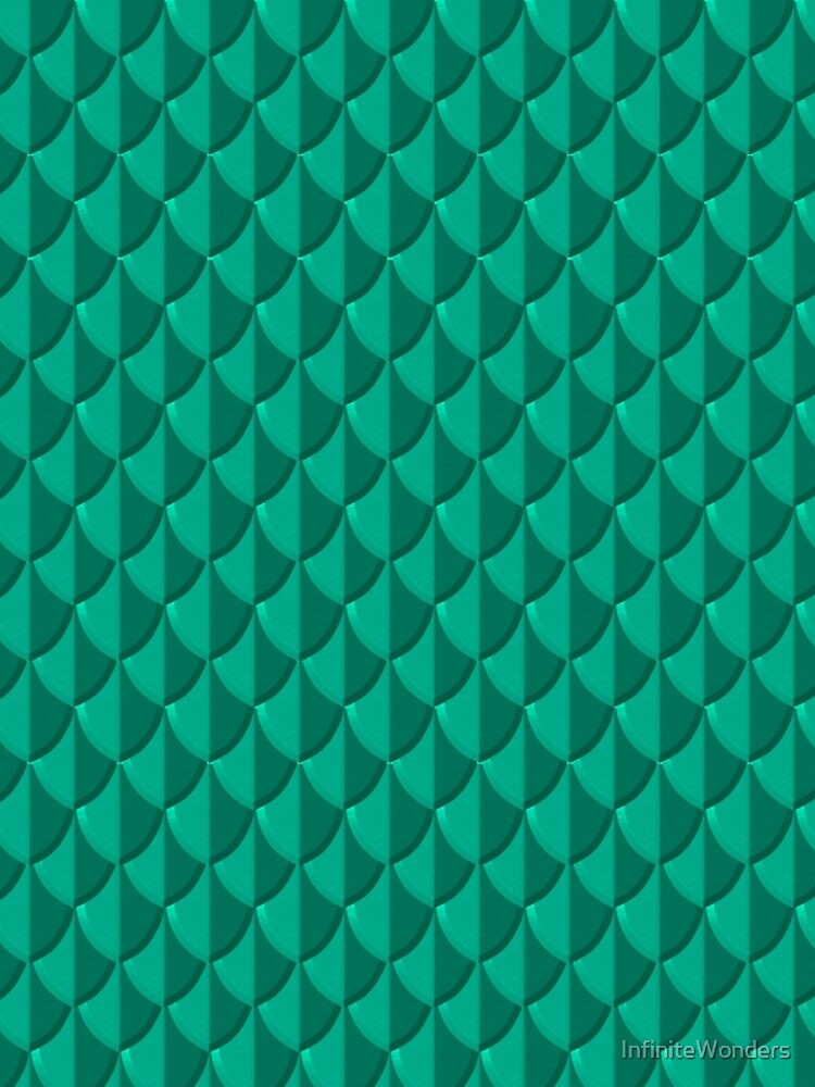 Sea Green Dragon Scales by InfiniteWonders