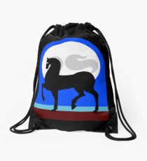 Caballo y Luna Drawstring Bag