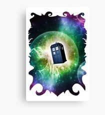 Universe Blue Box Tee The Doctor T-Shirt Canvas Print