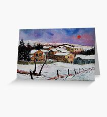 snow in the ardennes belgium Greeting Card