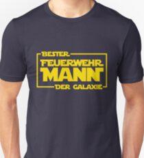 Bester Feuerwehrmann der Galaxie Unisex T-Shirt
