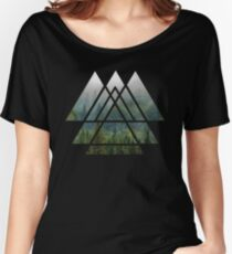 Heilige Geometrie-Dreiecke - Misty Forest Loose Fit T-Shirt