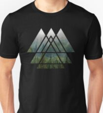 Sacred Geometry Triangles - Misty Forest Unisex T-Shirt