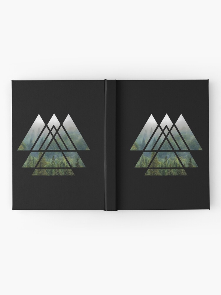 Alternate view of Sacred Geometry Triangles - Misty Forest Hardcover Journal