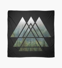 Sacred Geometry Triangles - Misty Forest Scarf