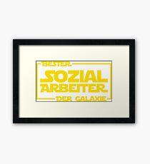 Bester Sozialarbeiter der Galaxie Framed Print