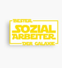 Bester Sozialarbeiter der Galaxie Canvas Print
