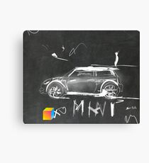 Mini Abstract sketching Canvas Print