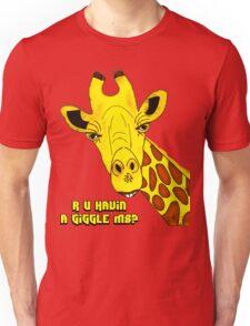 R U Havin A Giggle M8? Giraffe T-Shirt