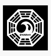 Dharma Initiative Logo (Lost TV Show) Photographic Print
