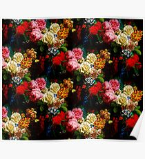 Baroque Flower Garlands Poster