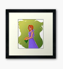Purple Gown Framed Print