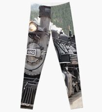 Steam train engine Silverton, Colorado, USA 8 Leggings
