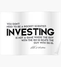 investing, a game - warren buffett Poster