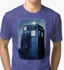 doctor smith tee Tardis Hoodie / T-shirt Tri-blend T-Shirt