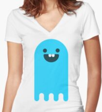 Hello Ghost Women's Fitted V-Neck T-Shirt