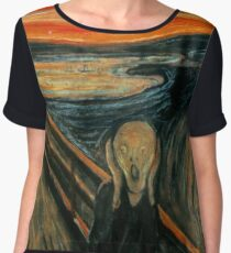 The Scream - Edvard Munch Chiffon Top